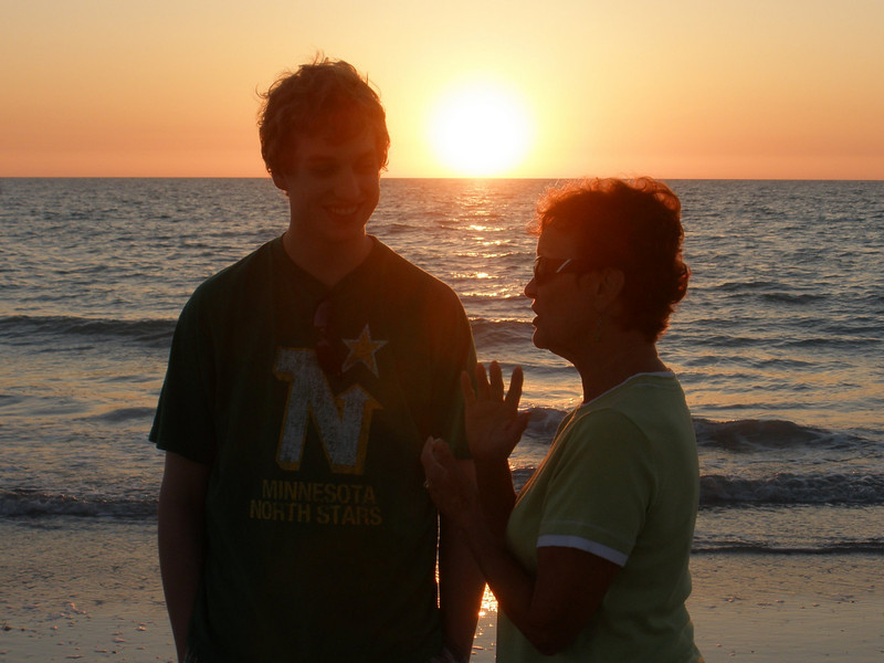 John and Vadis with Sunset at Indian Rocks beach