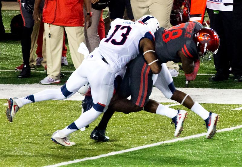 Diggs brings Dunbar down after a 9-yard reception.