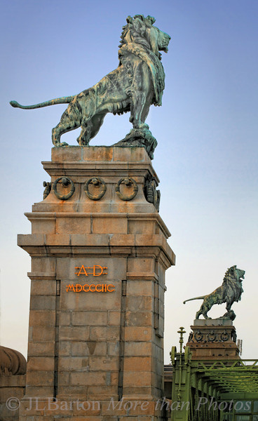 Royal Lions guard the canal