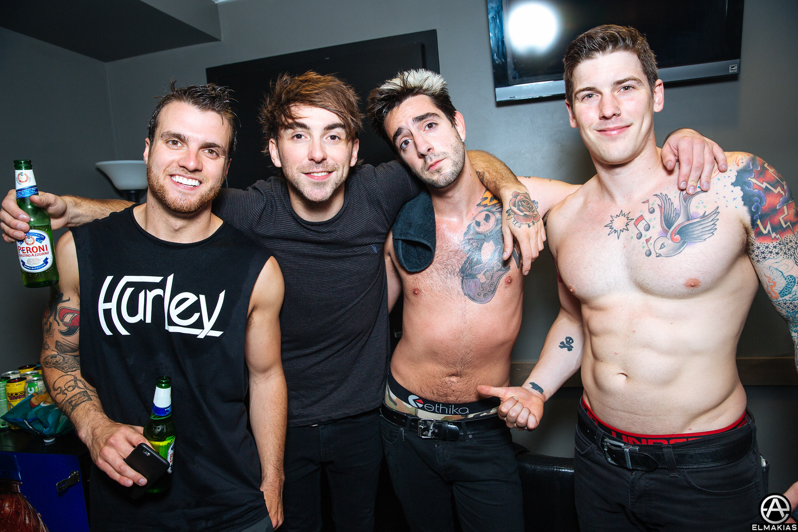 All Time Low after their show on The Future Hearts Tour by Adam Elmakias