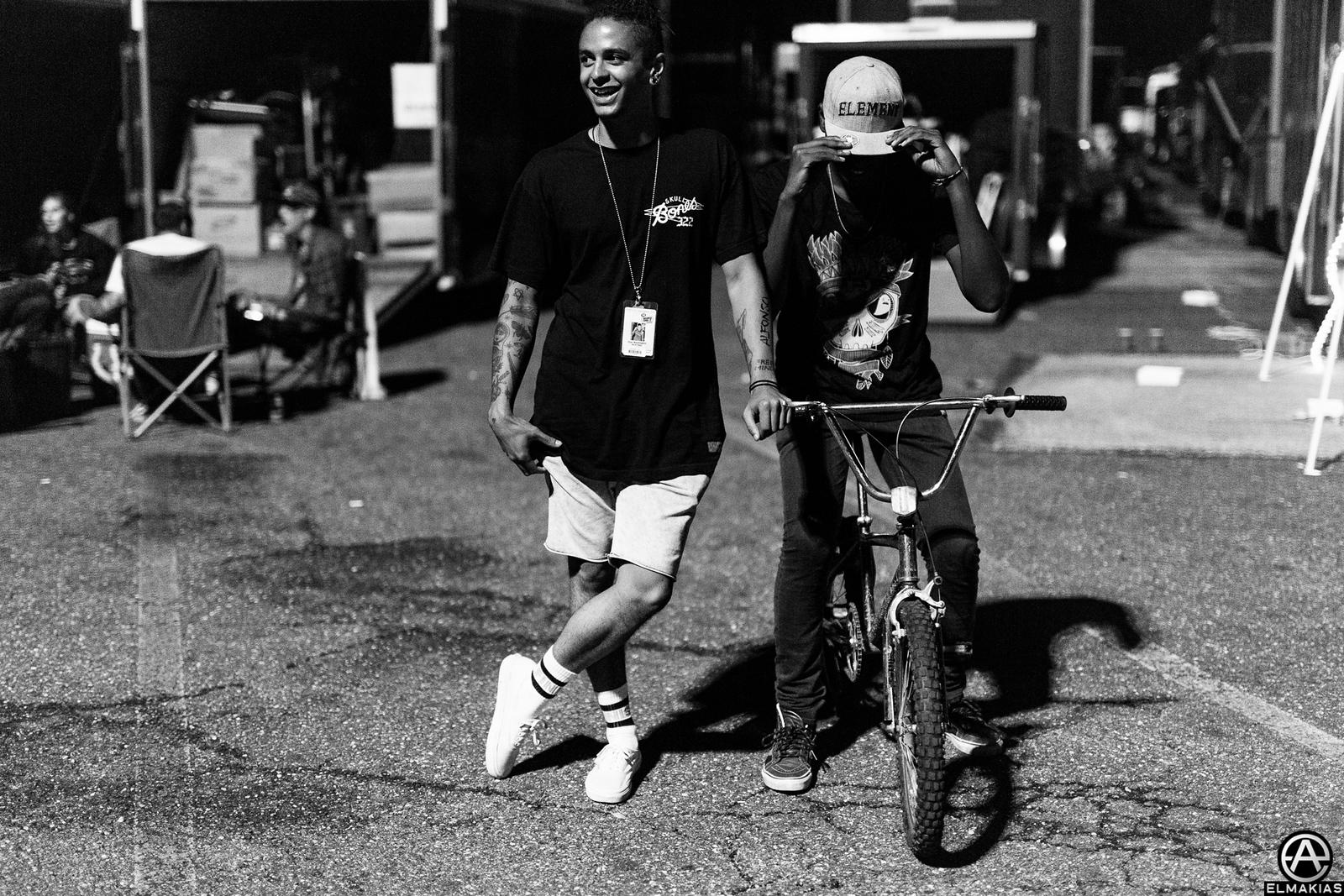 Dani Washington of Neck Deep live at Vans Warped Tour 2015 by Adam Elmakias