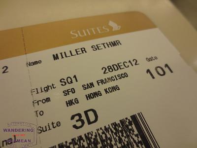 Singapore Suites: San Francisco to Hong Kong