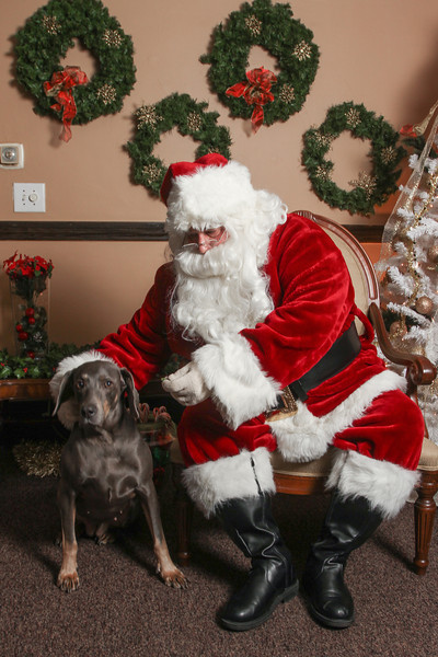 Willow with Santa!