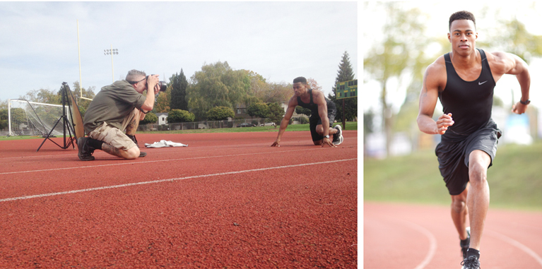 behind the scenes with a track and field model