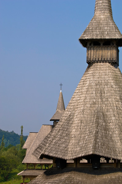 Monastery in Barsana, Maramures, Romania