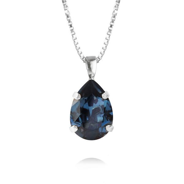 Mini Drop Necklace / Montana Rhodium