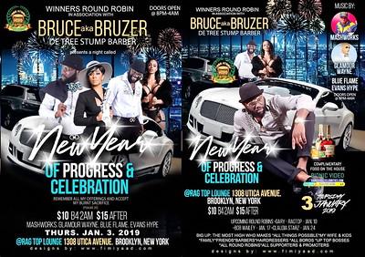"BRUCE BRUZER ""NEW YEAR OF PROGRESS & CELEBRATION""(15)"