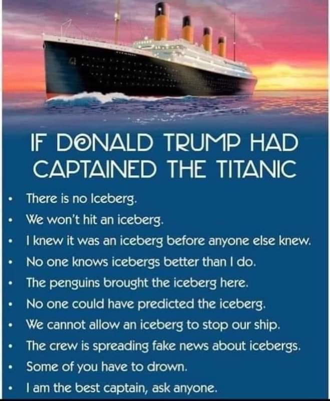 If Donald Trump had captained the Titanic