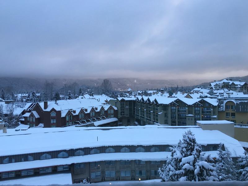 Good morning, fresh snow