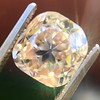 4.03ct Light Fancy Brown Antique Cushion Cut Diamond Halo Ring GIA LFB, SI1 81