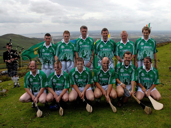 M Donnelly All Ireland Poc Fada Final, Poc Fada contestants pictured before the Start. 07W32S260