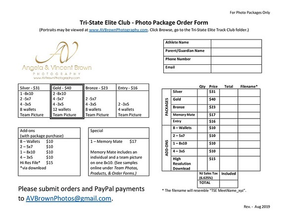 Order Forms & Ordering Tips