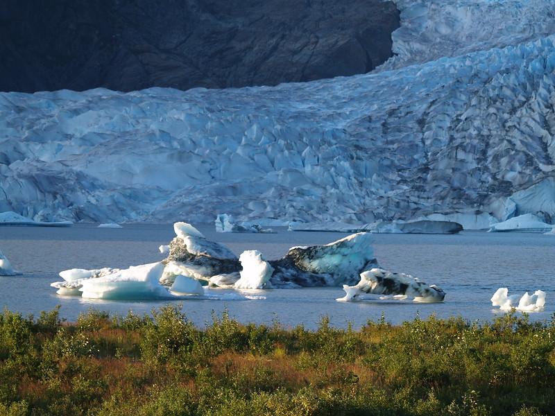 The waning day at Mendenhall Glacier