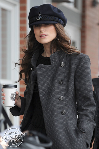 Ahoy Sailor! Keira Knightley Almost Can't See Out Of Her Chanel Sailor Cap!