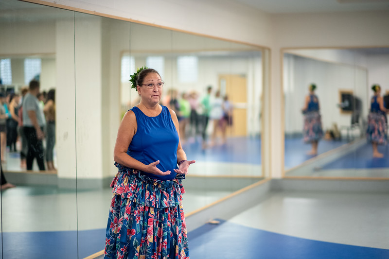 Hula 'Auana-Modern Hula     Carolyn Arwood An introduction to basic Hula ʻauana (modern hula). Students will learn proper posture, hand, foot and hips movements as well as a hula dance. Thru this they will also learn the importance of story thru dance to the Hawaiian people.