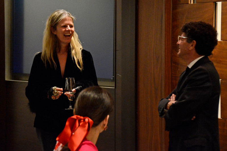 Yvonne Force Villareal, Marcia Mishaan, Michael Gross AVENUE MAGAZINE Presents the SALON DINNER & CONVERSATION about PUBLIC ART Featuring YVONNE FORCE VILLAREAL 10 Hudson Yards NYC, USA - 2017.04.06 Credit: Lukas Greyson