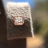.52ctw Asscher Cut Diamond Bezel Stud Earrings, 18kt Rose Gold 8