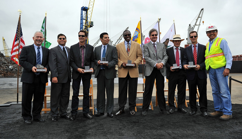 . 4/30/13 -  Longtime scrap metal exporter and Port of Long Beach tenant SA Recycling held a reception to celebrate its expansion of business to include bulk shipments of iron ore overseas. These shipments are the first-ever iron ore to be exported from the Port of Long Beach.  SA Recycling is a joint venture between Sims Metal Management and Adams Steel. Photo by Brittany Murray / staff photographer