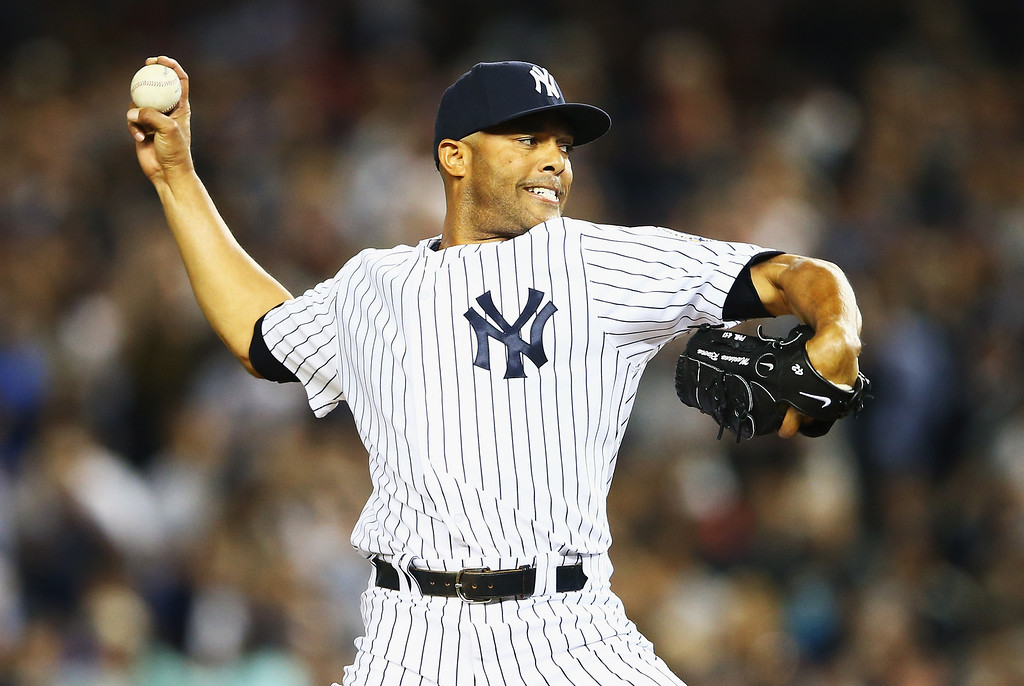 . NEW YORK, NY - SEPTEMBER 26:  Mariano Rivera #42 of the New York Yankees pitches against the Tampa Bay Rays in the eigth inning during their game on September 26, 2013 at Yankee Stadium in the Bronx borough of New York City.  (Photo by Al Bello/Getty Images)