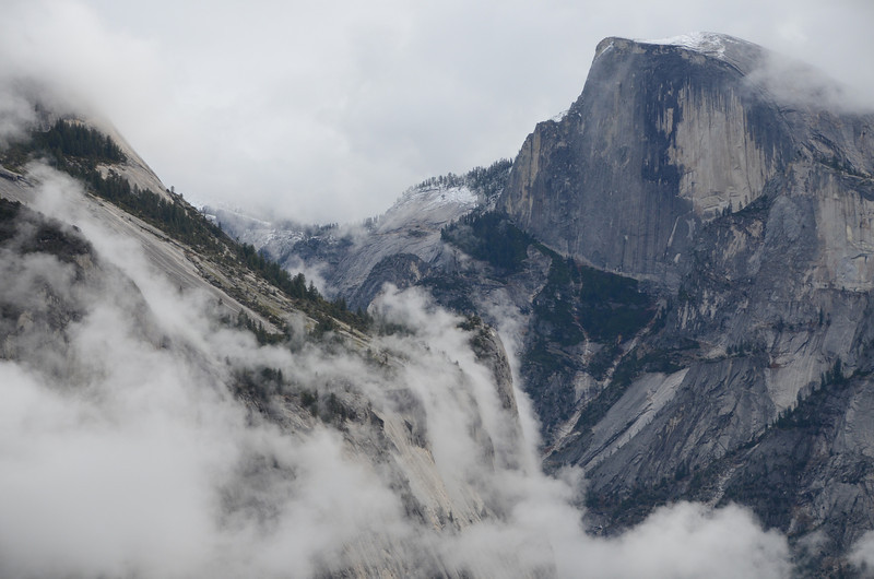 Half Dome with a dusting of snow.