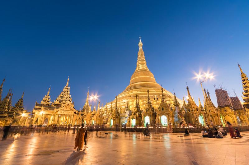 Shwedagon Pagoda at Night, Yangon (Rangoon), Myanmar (Burma)