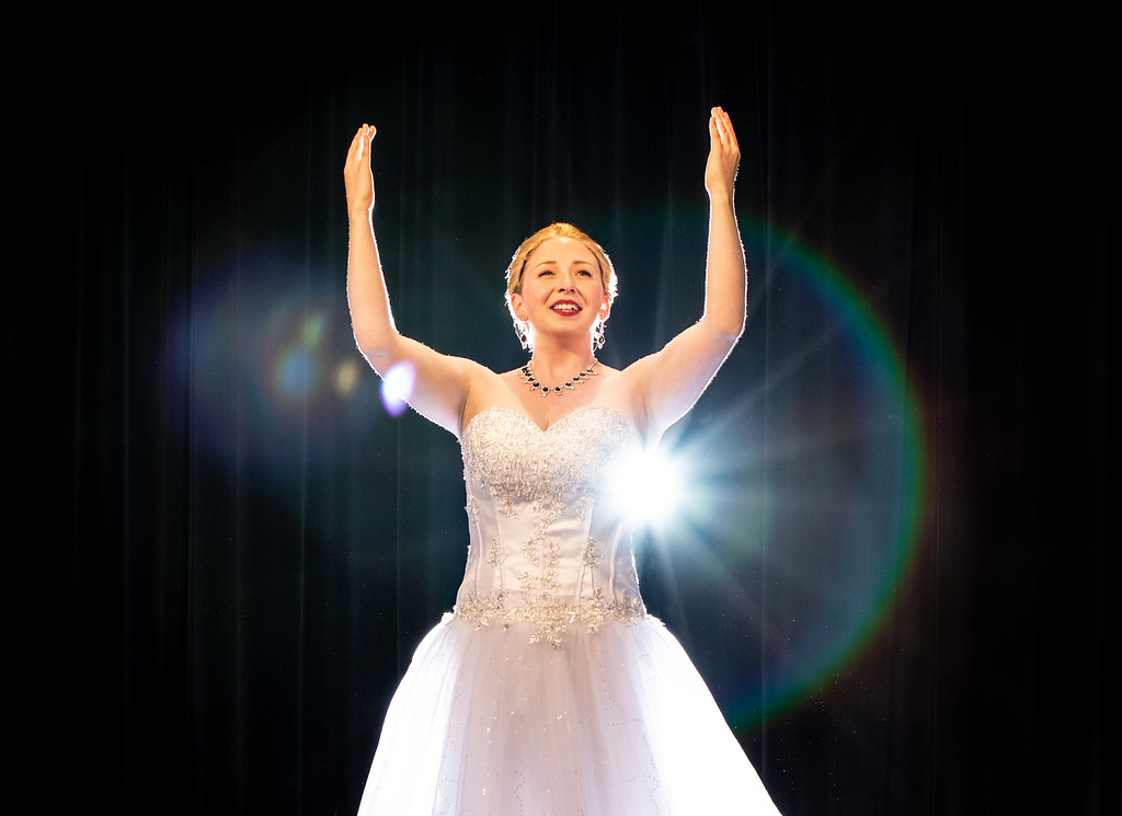 . Alice Nelson portrays Eva Peron in the Rabbit Run Theater production of the Andrew Lloyd Webber-Tim Rice musical �Evita,� which continues its run at the Madison Township barn theater through Aug. 18. For more information, 440-428-7092 or visit rabbitrunonline.org. (Kathy Sandham)