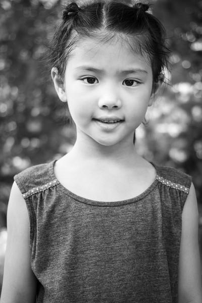 Cute little girl met at HK Park.