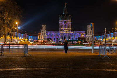 View of Charlottenburg Palace during Christmas.