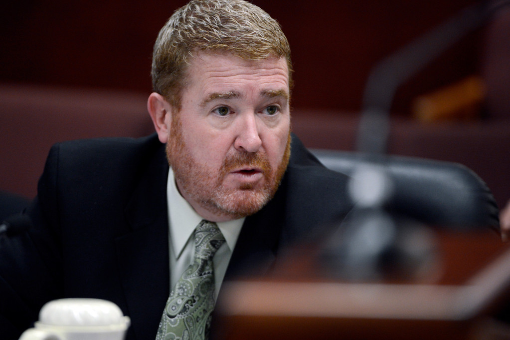 . Defense Attorney Daniel King speaks during a hearing for Aurora theater shooting suspect James Holmes  in court in Centennial, Colo., on Tuesday, June 4, 2013. Holmes was allowed to change his plea to not guilty by reason of insanity. (AP Photo/The Denver Post, Andy Cross, Pool)