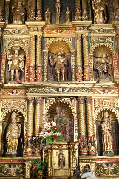 Miniature statues inside the church in Andorra