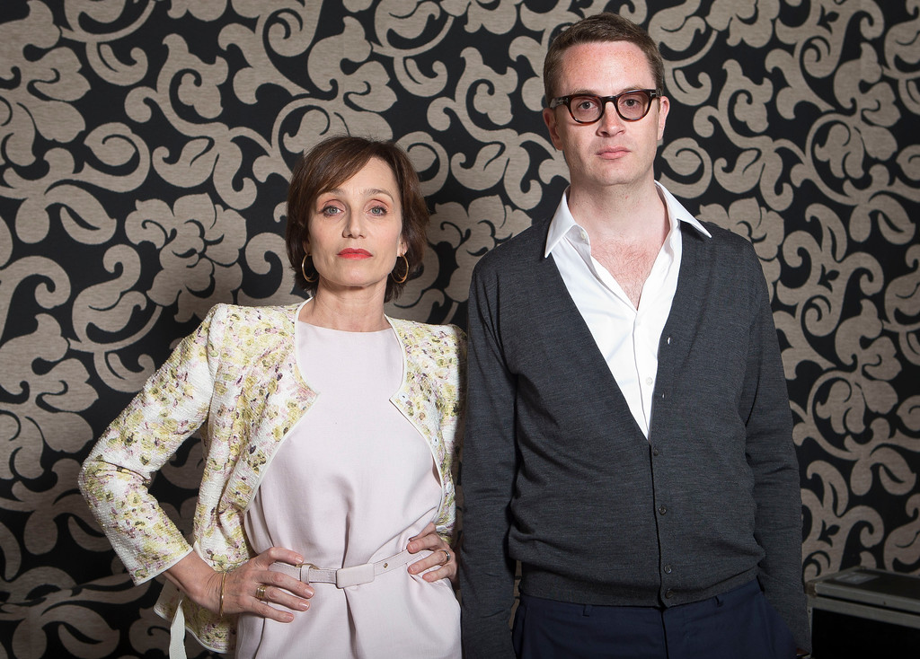 . Actor Kristin Scott Thomas and director Nicholas Winding Refn during a portrait session for the film Only God Forgives at the 66th international film festival, in Cannes, southern France, Wednesday, May 22, 2013. (Photo by Joel Ryan/Invision/AP)