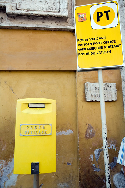 Box and sign of Vatican Post Office, Rome