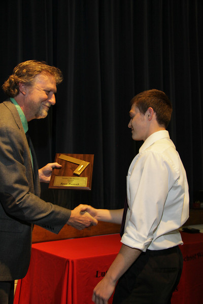 Awards Night 2012 - Golden Tri-Square Award (Advanced Woods Student of the Year)