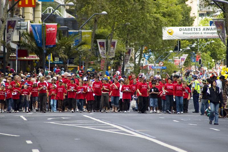 Choir Santa Parade Auckland New Zealand - 27 Nov 2005