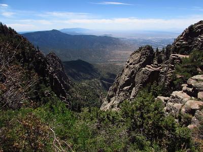 Sandia Mtns. - Crest-Upper La Luz-Gravel Pit-Kiwanis Trails Hike  7-20-20