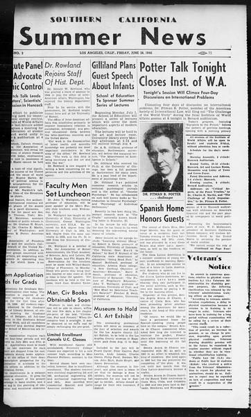 Summer News, Vol. 1, No. 3, June 28, 1946
