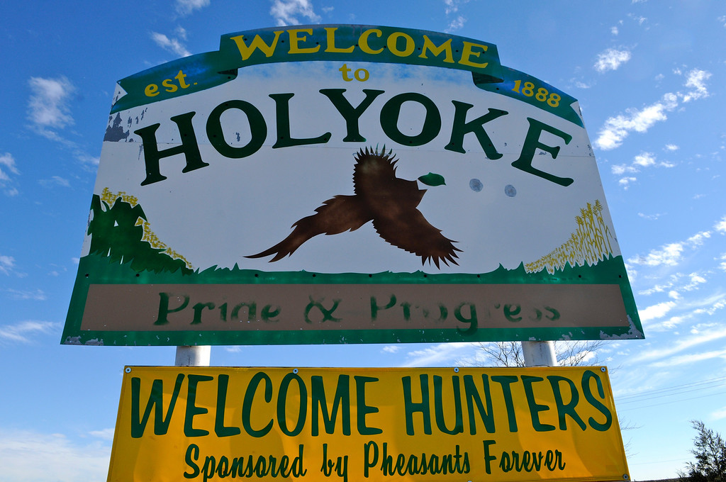 . Holyoke, near the Nebraska border in Phillips County, rolls out the welcome mat for Colorado pheasant hunters. Only Yuma County, just south, saw more pheasant hunters in the state last year.