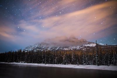 """Frigid Fortress"" III  Castle Mountain, Banff National Park."