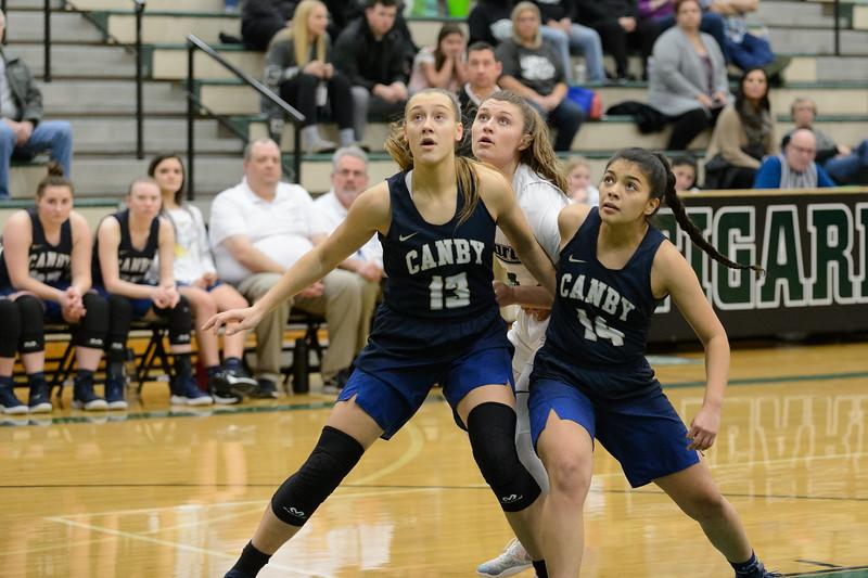Tigard HS Varsity Girls BB vs Canby