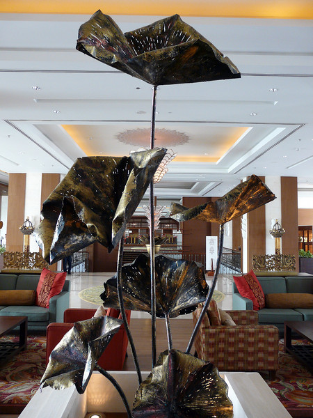 Another sculpture at Shangri La Hotel in Chiang Mai.