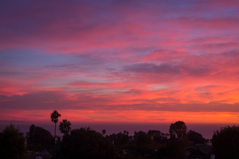 November 1 - What a way to usher in the first of November- sunset over the Pacific in Los Angeles.jpg