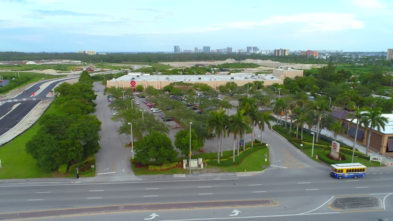 Aerial drone shot of Target Florida USA