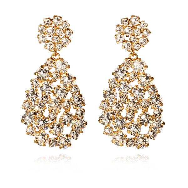Hanna Earrings / Crystal Gold