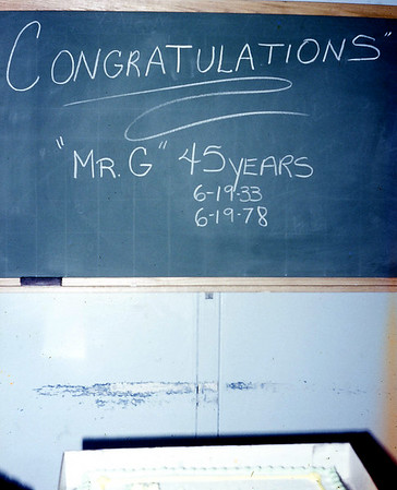 45th year with GM 1978