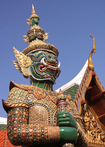 Demon guarding the Grand Palace - Bangkok