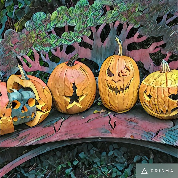Pumpkins are carved. Hat tip to @coolmompicks for the ideas!
