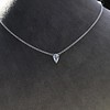 0.48ct 18kt White Gold Rose Cut Bezel Pendant 18
