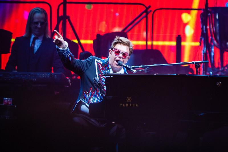 Elton John's concert at Forysth Barr Stadium in Dunedin,  NZ on Tuesday, 4th Feb 2020.    Elton John's Farewell Yellow Brick Road Australian/New Zealand Tour 2019/2020.  Copyright image:  Clare Toia-Bailey / Dunedin Venues Management Ltd.