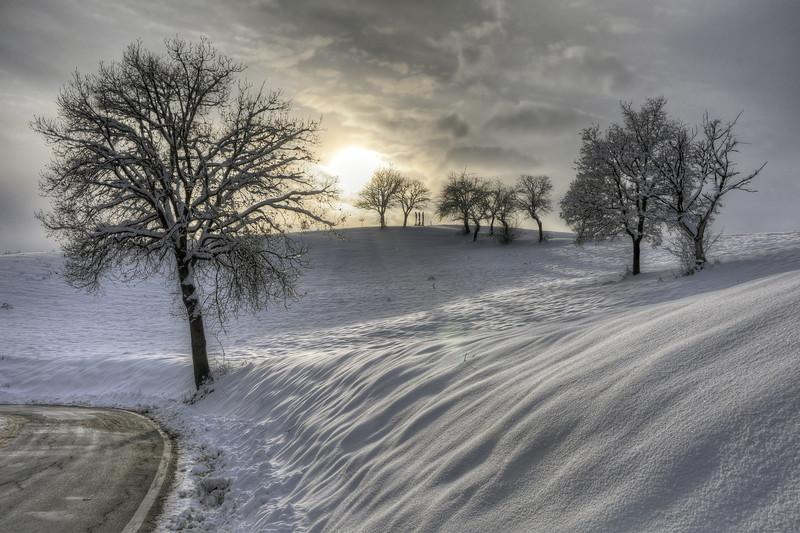Cold Sunset - Via Monte Evangelo, Castellarano, Reggio Emilia, Italy - January 31, 2010