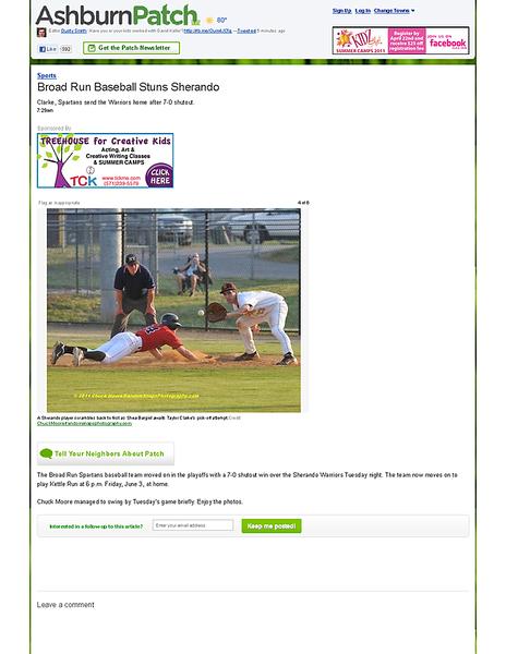 Broad Run Baseball Stuns Sherando - Ashburn, VA Patch.png
